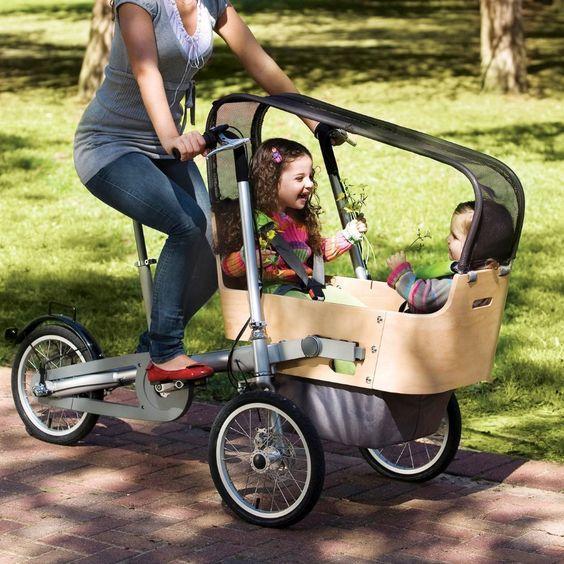 Convertible bike strollers