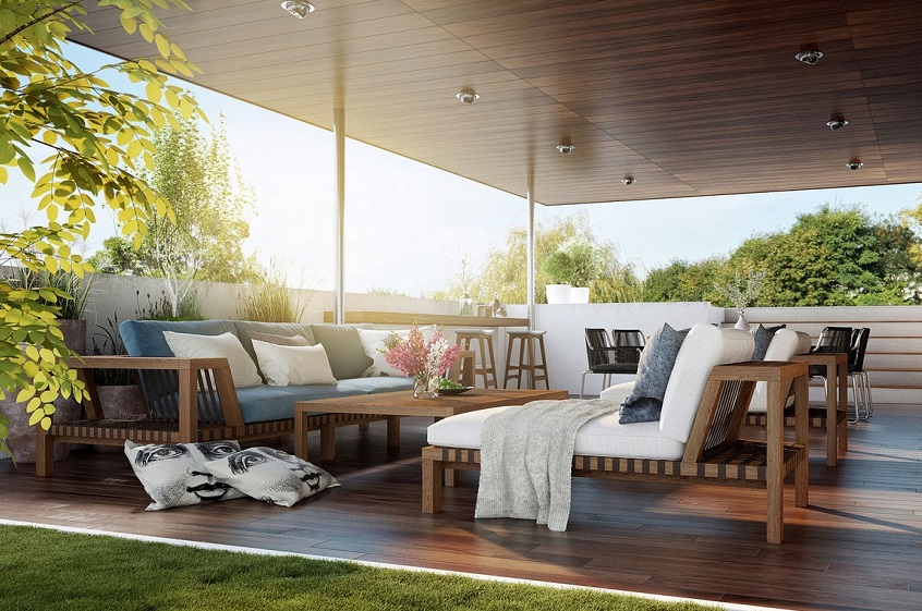 outdoor lounge setting