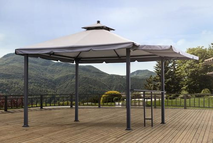 gazebo with awning