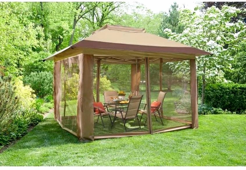 gazebo with insect net
