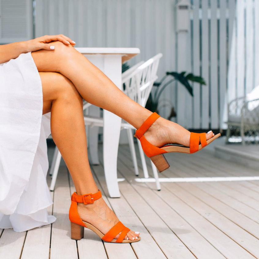 Gracie tangerine frankie4 orange high heels