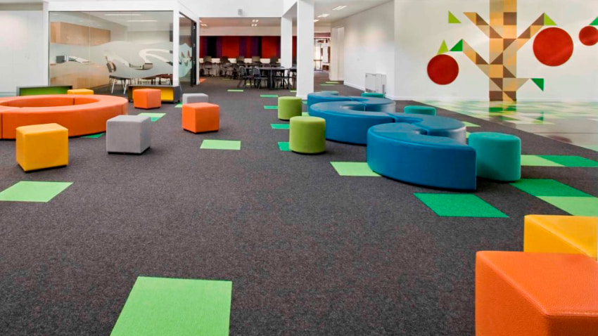 school with carpets