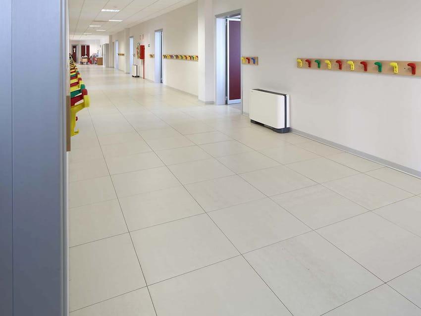 tiles flooring in school
