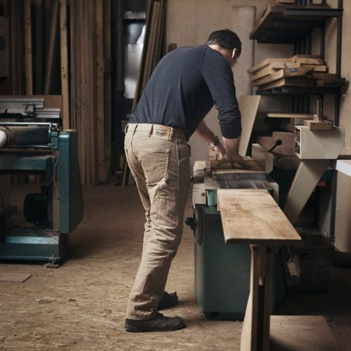 guy working with wood