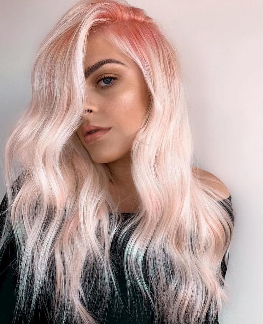 shiny dyed hair