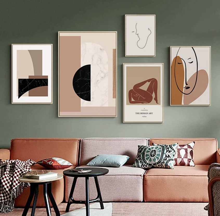 Art posters in home decor