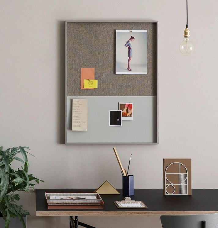 Pinboard above desk