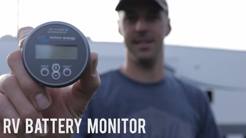 man with rv battery monitor