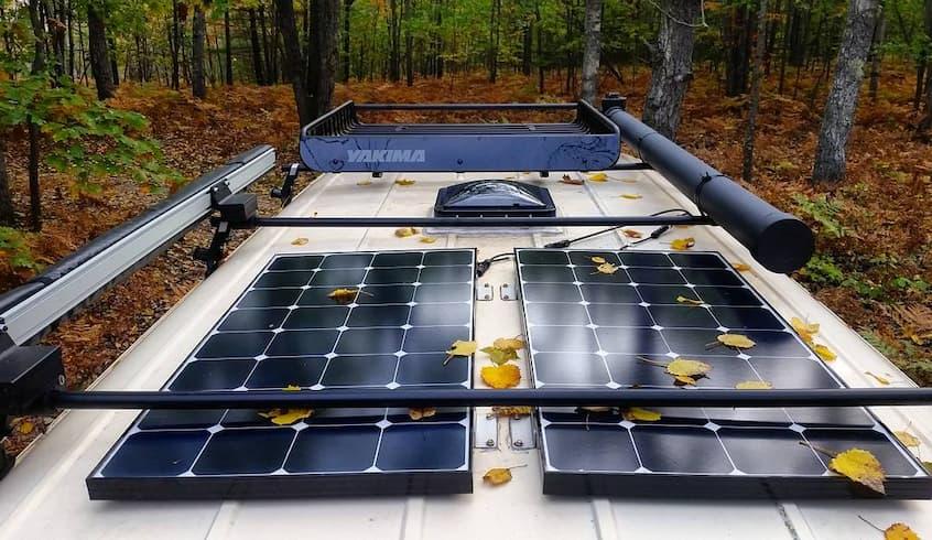 rv solar panels outdoor