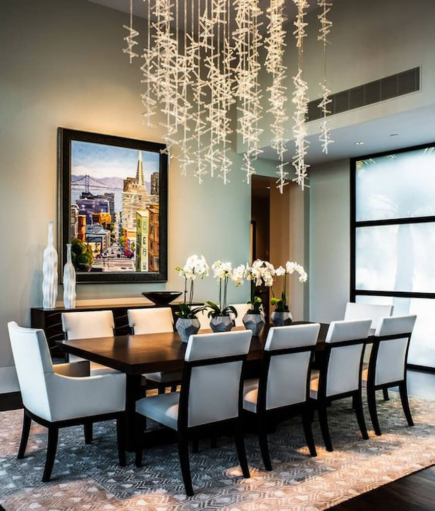 dining table fairy light chandelier