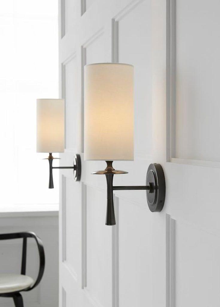 linen indoor wall lights
