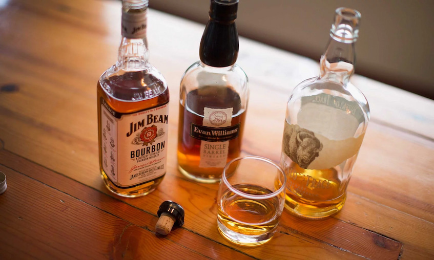 different type of bourbons