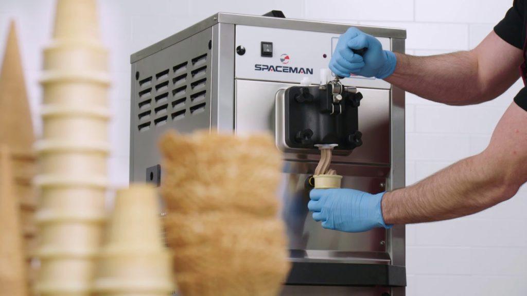 ice cream serve machine