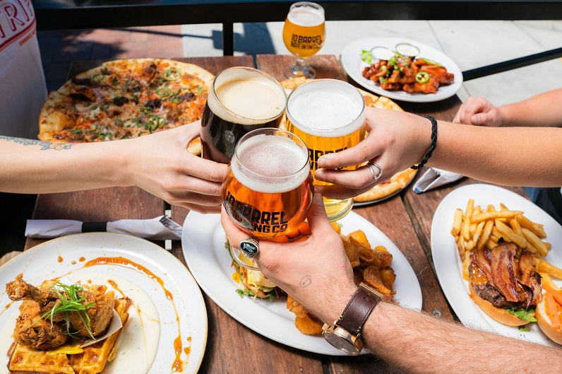 feast with beer