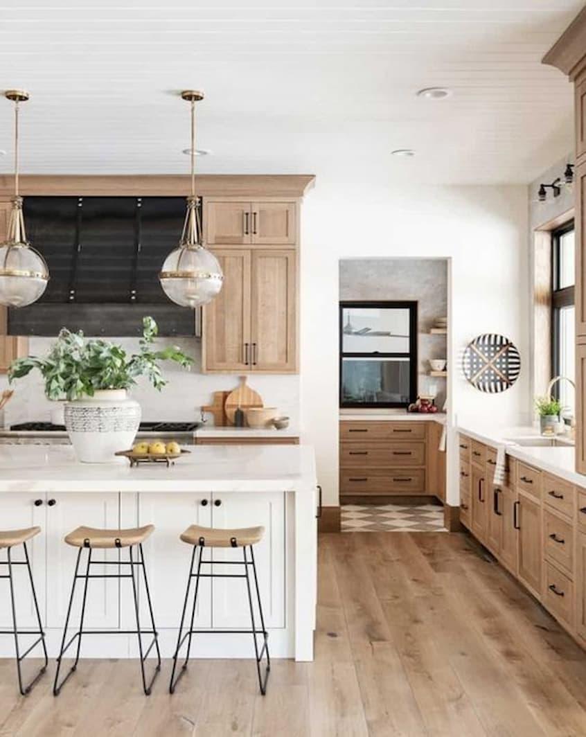 hard wood kitchen flooring