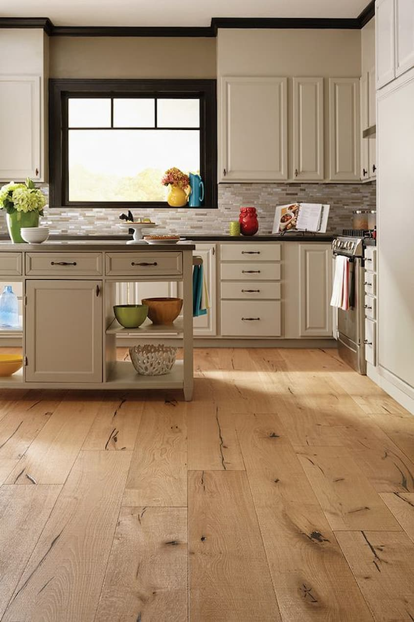 hardwoood kitchen floor